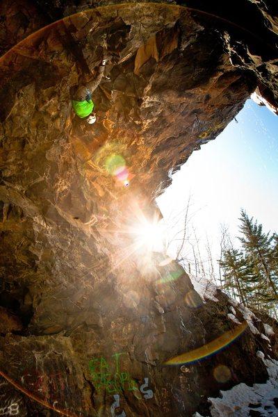 Rock Climbing Photo: Adam Dailey by Loki of Universal Klister blogspot