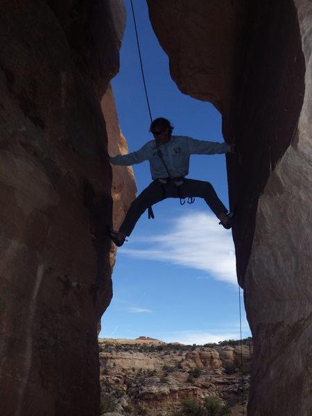 Rock Climbing Photo: John getting on it