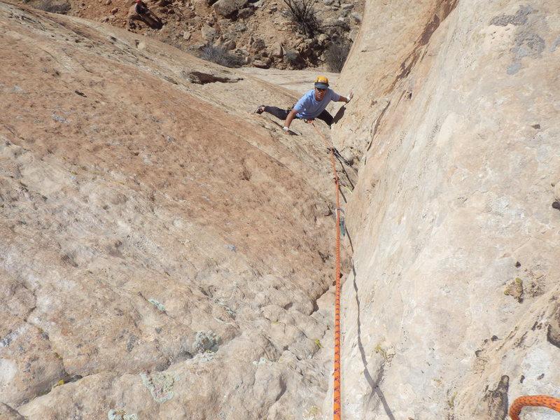 Rock Climbing Photo: on the way up