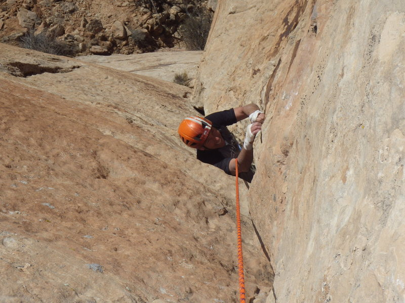 Rock Climbing Photo: roger on the way up