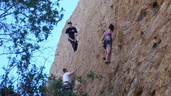 Rock Climbing Photo: A busy spring day on the east wall of the First Co...