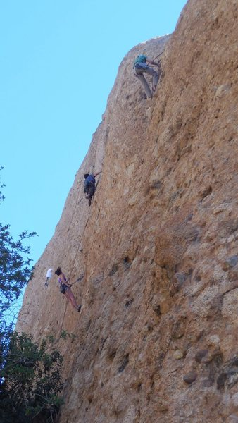 """Rock Climbing Photo: A party on """"Rocket Man."""" The climber in ..."""
