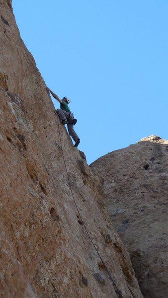 "Rock Climbing Photo: Near the top of ""Black Gold."""