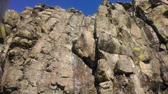 Rock Climbing Photo: The boulder/flake feature of 'Purposefully Put In'...