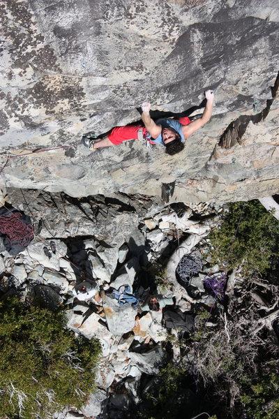 Rock Climbing Photo: Gabe Metzger on Super Natural .11c. Larry Land, Bo...