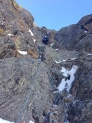 Rock Climbing Photo: No ice and lots of snow mushrooms as of 3/16/2014....