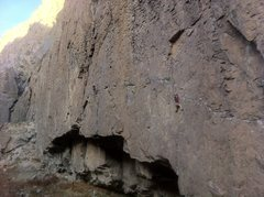 Rock Climbing Photo: Buddy following on Towering Inferno in ORG