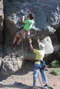 Rock Climbing Photo: Duncan strarting on Espolón del murciélago