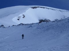 Rock Climbing Photo: Almost to the top. It's really just a long steep h...