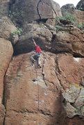 Rock Climbing Photo: Me clipping chains on Todos con poli