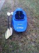 kayak and paddles