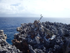 Rock Climbing Photo: Current appearance of the cairn above spiral stair...