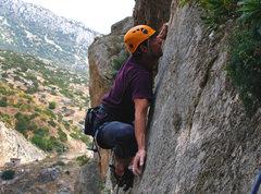 Rock Climbing Photo: Javi climbing like he does... killin it. Somewhere...