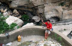 Rock Climbing Photo: Mario belaying someone in the Gorge