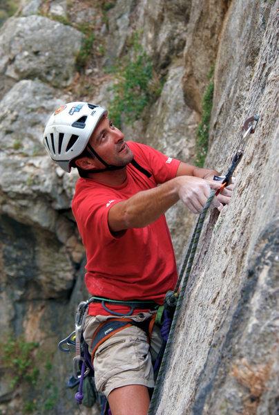 Mario climbing the Gorge