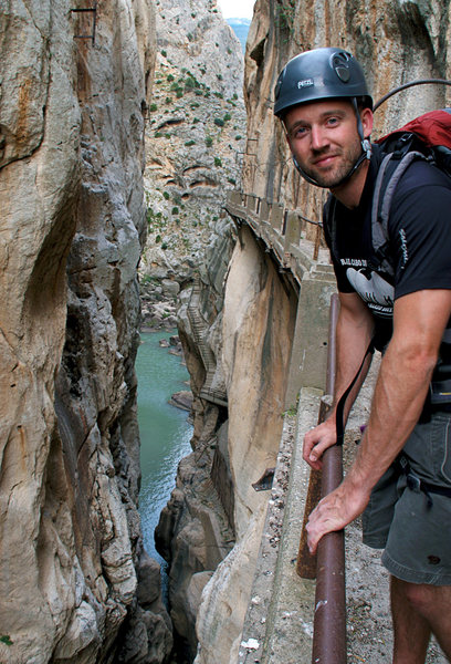 Rob on El Camino del Rey after a great day of climbing