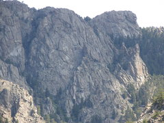 Rock Climbing Photo: West side Seminoe Mtns near Morgan Creek Canyon