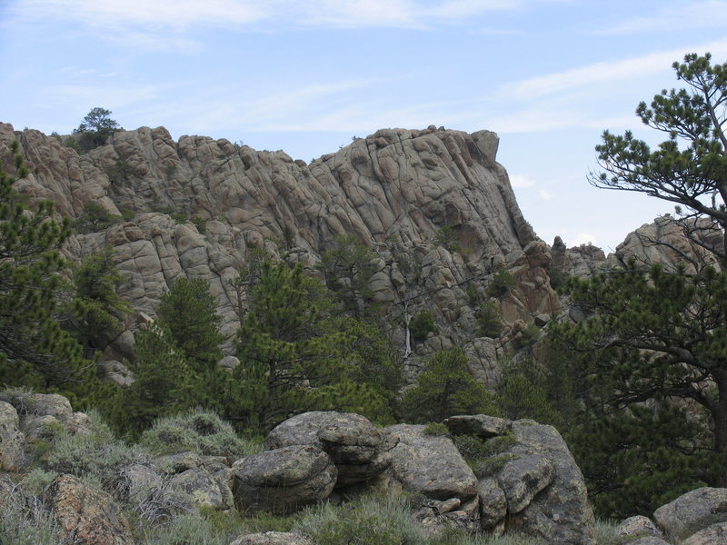 Rock Climbing Photo: Some granite outcrops on the east side of the west...
