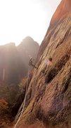 Rock Climbing Photo: My climbing partner