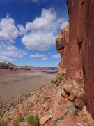Rock Climbing Photo: view from the base of the route