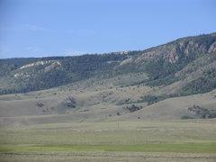 Rock Climbing Photo: The limestone rim that occurs where the escarpment...