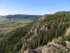 Rock Climbing Photo: Looking at the north facing escarpment while stand...