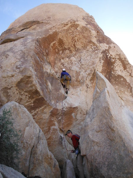 Rock Climbing Photo: Attentive belayer required on sustained Blind Man'...
