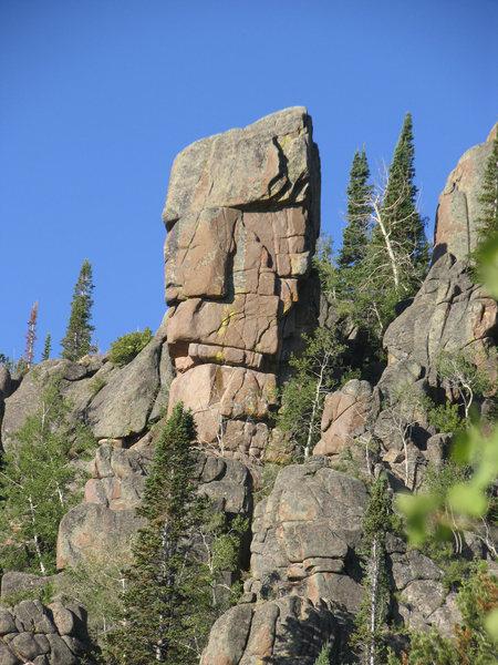 Rock Climbing Photo: the Pinnacle close up.