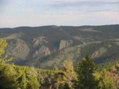 Rock Climbing Photo: A closed look at the north facing escarpment mound...