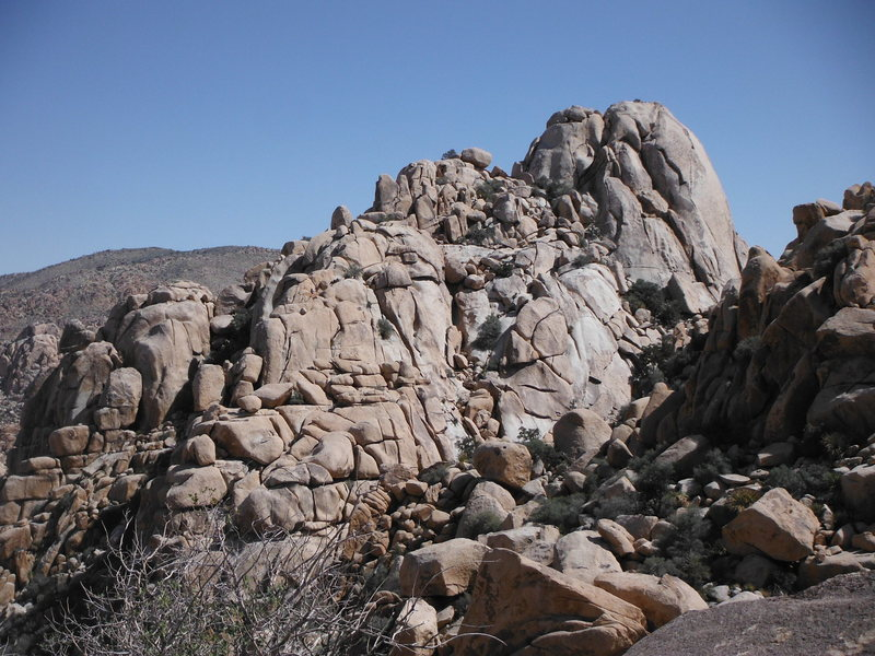 Rock Climbing Photo: Super Dome Northwest Face and rocks north of there...