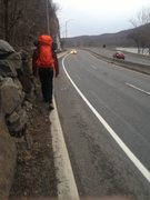 Rock Climbing Photo: 2014 season start with the highway approach DWG