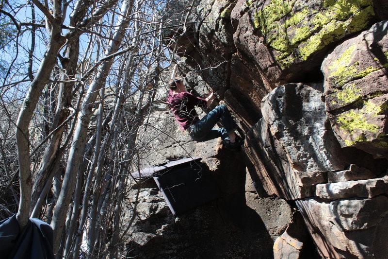 Rock Climbing Photo: keep going