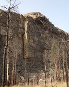 Rock Climbing Photo: The middle section of the east face of The Lower C...