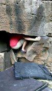 Rock Climbing Photo: The Start of Crouching Boy Hidden Boulder