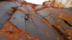 Rock Climbing Photo: Climber on Casey's Route.