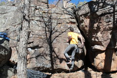 Rock Climbing Photo: The start left under-cling. right can go anywhere ...