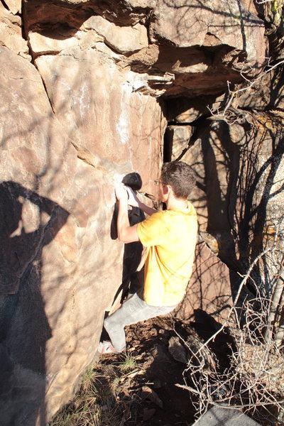 Rock Climbing Photo: Start hold of Eagle.