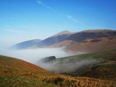 Rock Climbing Photo: Mist on Skiddaw Mountain