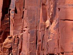 "Rock Climbing Photo: Nick leading ""Tom Cat"" on the Cat Wall."