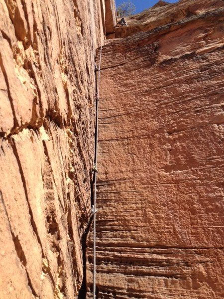 Rock Climbing Photo: the crux pitch, amazing!