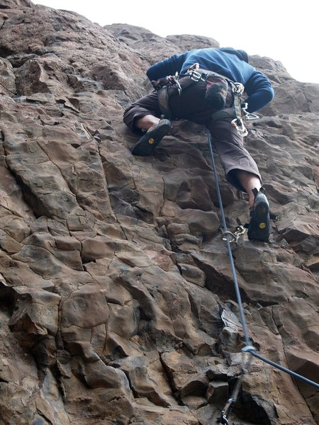Rock Climbing Photo: on lead