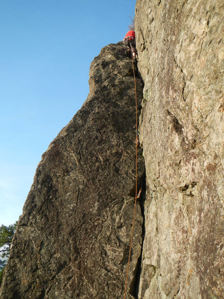 Rock Climbing Photo: open book on the first pitch