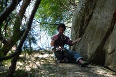 Rock Climbing Photo: Me at the top of the best corner crack in all of t...