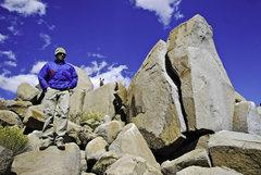 Rock Climbing Photo: Ross, up on the Ridge.