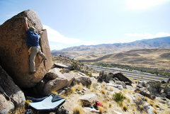 Rock Climbing Photo: Not to tough, but def fun!  the Alien egg, V1