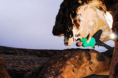 Rock Climbing Photo: Sulli rockin' out on 'the Fang' V4 pic: Trevor Sum...