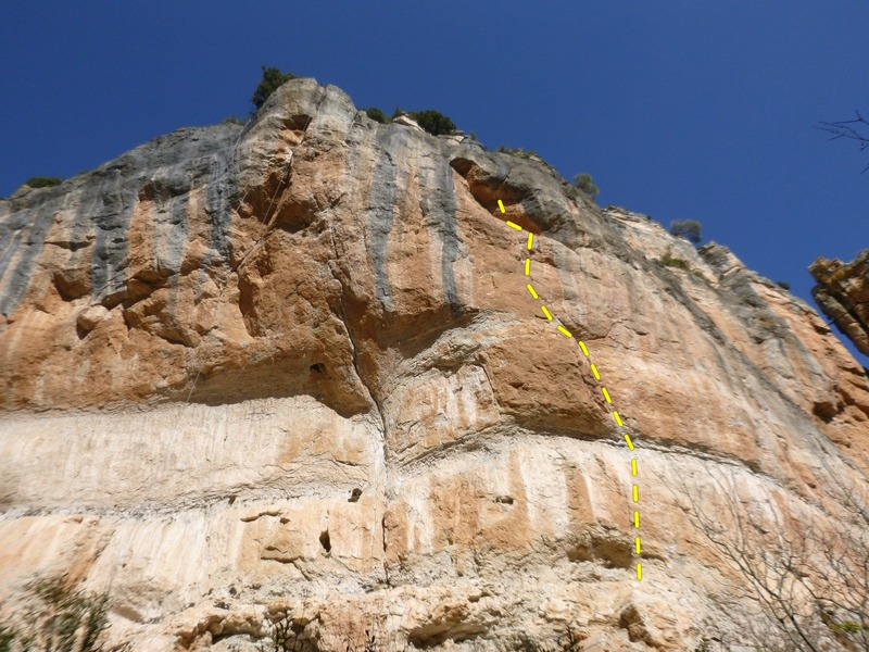 Rock Climbing Photo: The steep section of El Pati. Gato Lerdo climbs th...