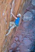 Rock Climbing Photo: Jeff Gicklhorn climbing The Sound of Power, 5.12c