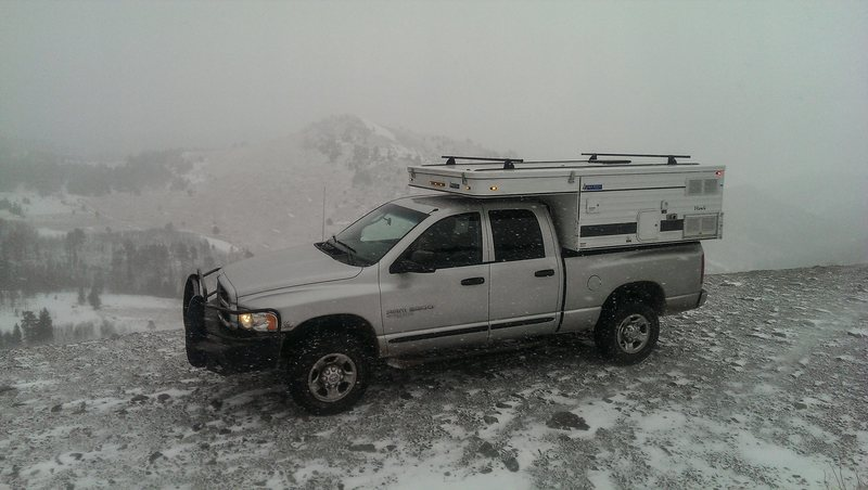 Rock Climbing Photo: Silver Fox in the snow