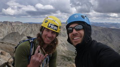 Rock Climbing Photo: Summit of Ellingwood Pk.  Wind River Range, WY.